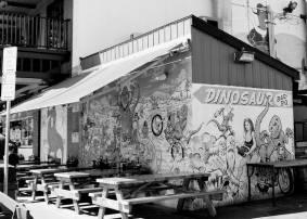 Dinosaur BBQ Mural